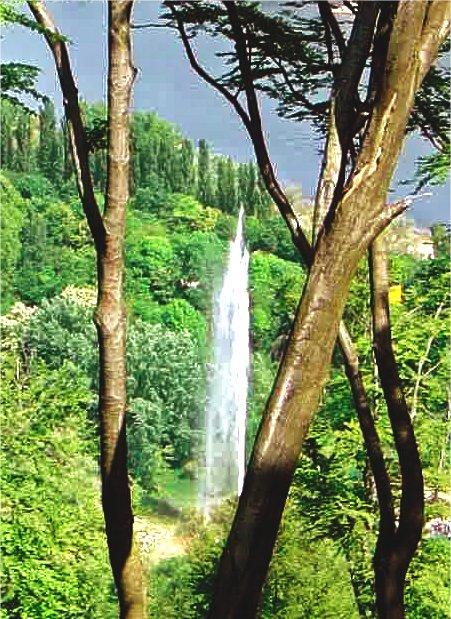 geysir-landschaft